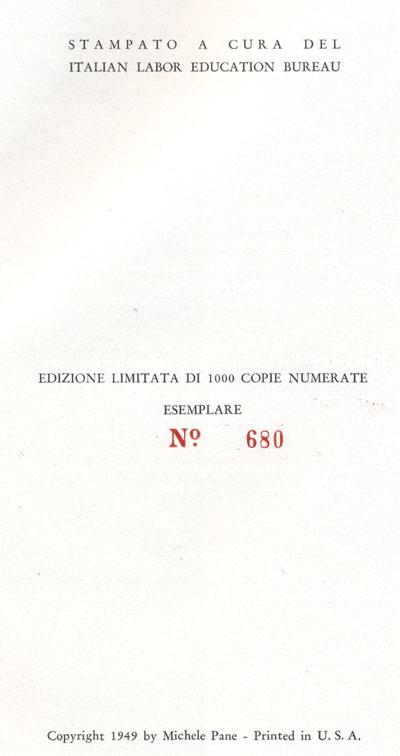 Numero della copia di Garibaldina