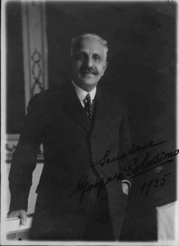 Senatore Gaspare Colosimo nel 1925