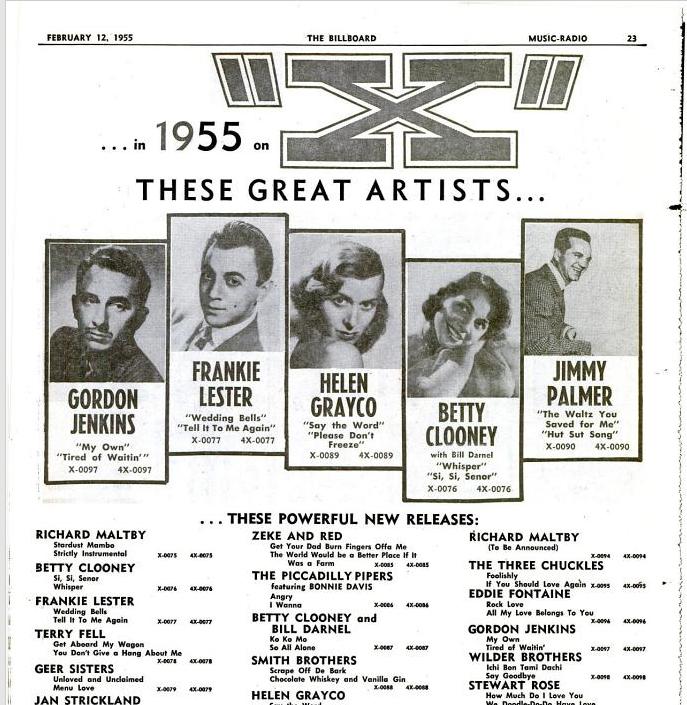 The Billboard, 12 febbraio 1955