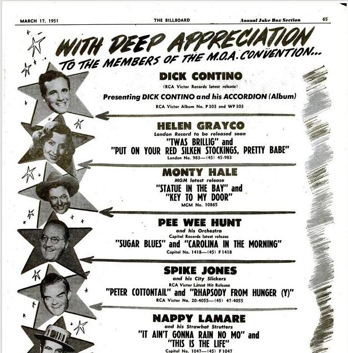 The Billboard 17 marzo 1951