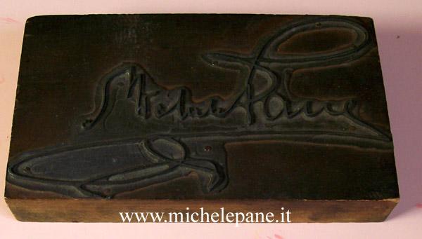 Clichè con la firma di Michele Pane