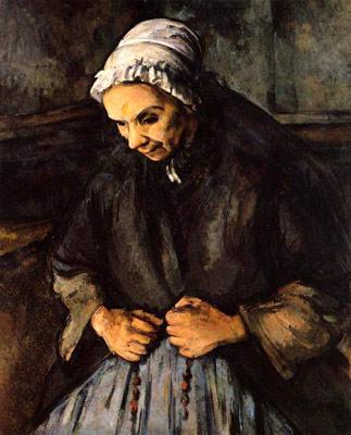 Vecchia con un rosario - Paul Cézanne