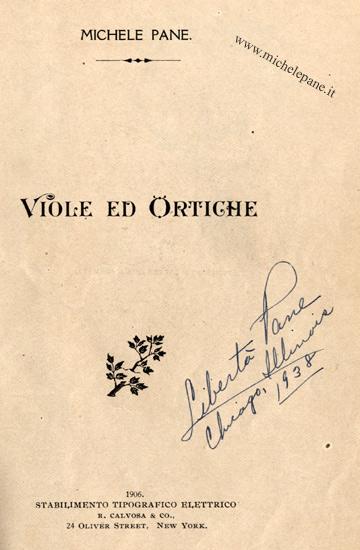 Viole e ortiche, pag. 5 con autografo di Libertà