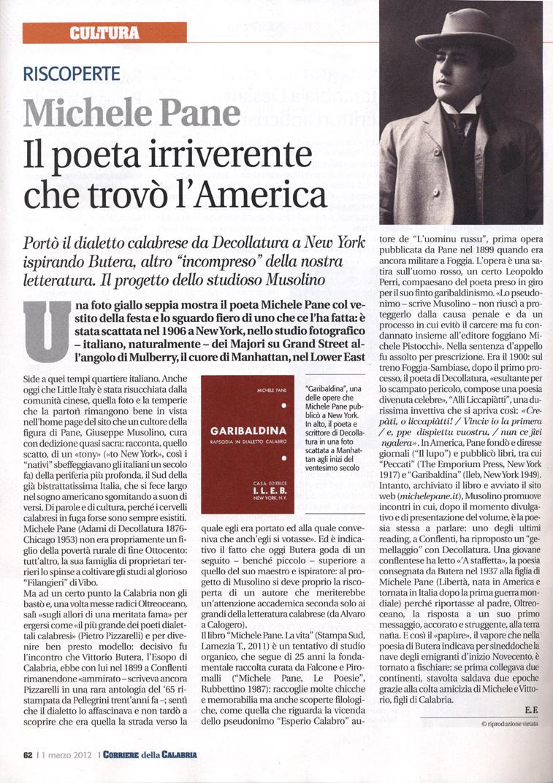 Corriere della Calabria 1 marzo 2012