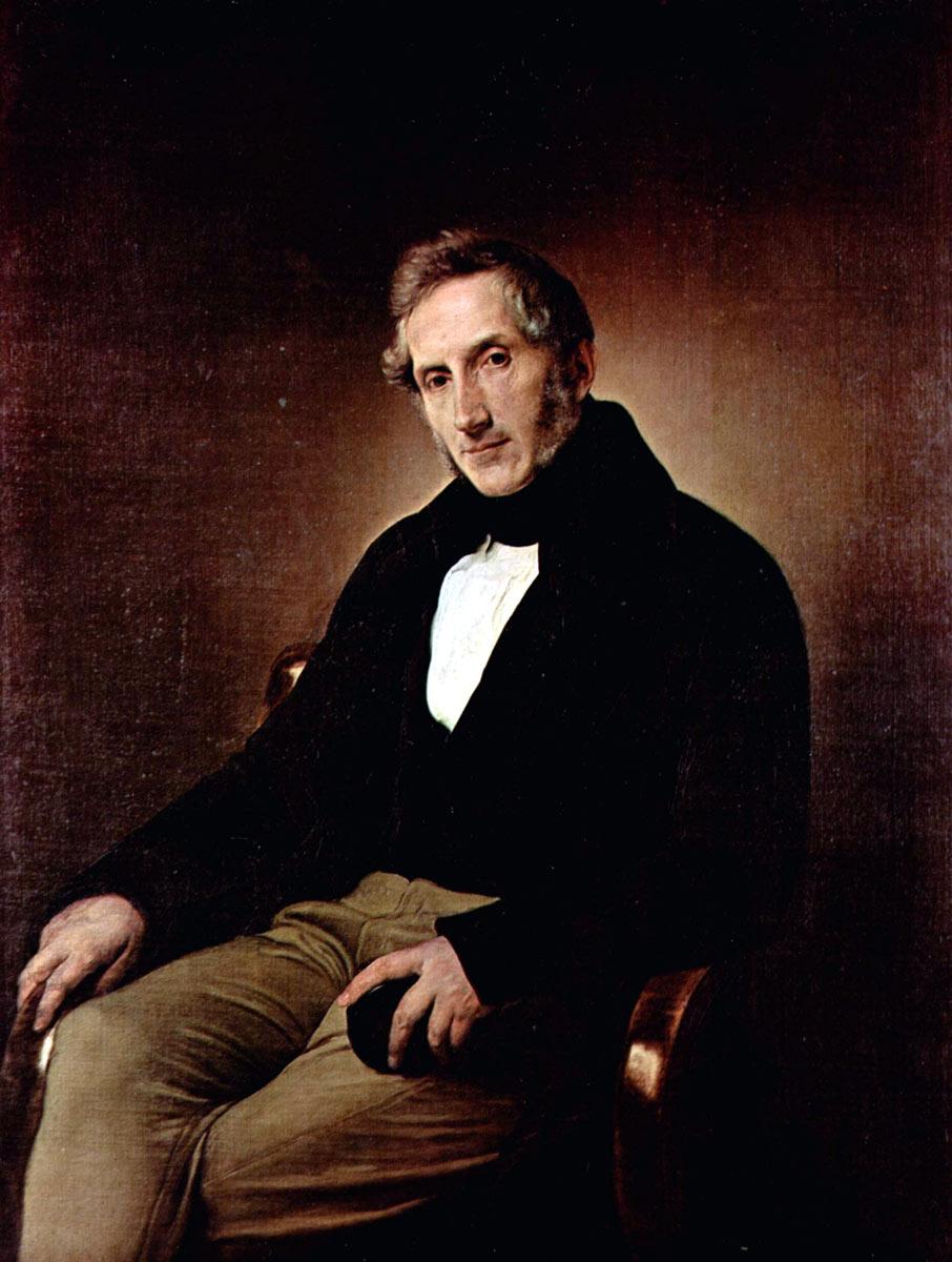 Alessandro Manzoni dipinto da Hayez nel 1841