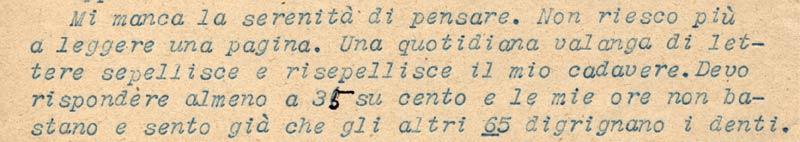 Lettera di Vittorio Butera 1951