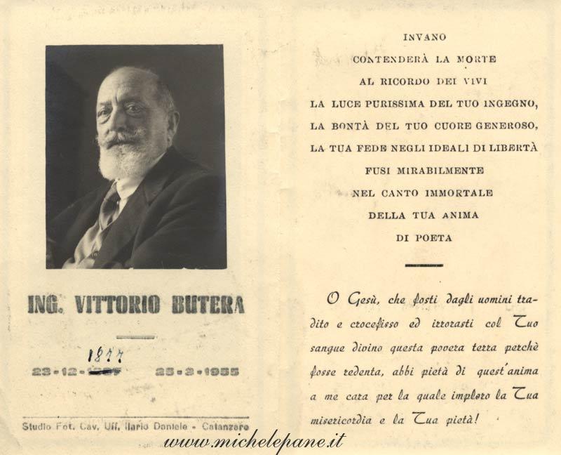 Ricordino per Vittorio Butera
