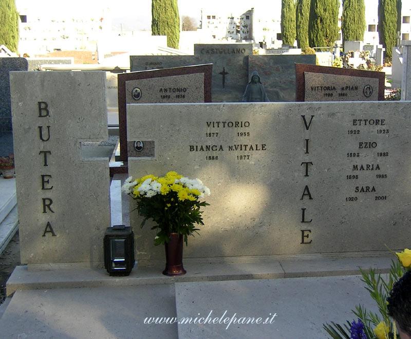 La tomba di Vittorio Butera e Bianca Vitale