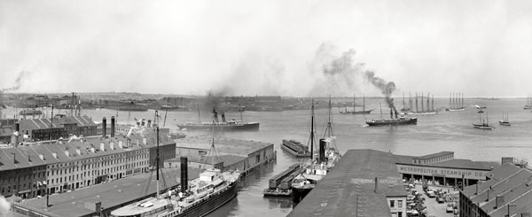 Porto di Boston nel 1906