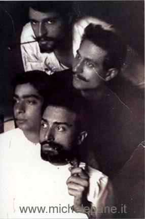In primo piano Emilio Grandinetti e Vittorio Butera; dietro Umberto Stranges e Gigi Sirianni