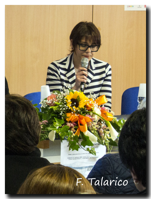 Le Président du Parc Littéraire Lucia Bonacci présente les œuvres